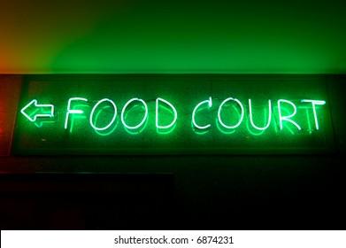 fluorescent sign