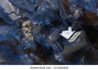 Fluorite crystal close up rock gem detail