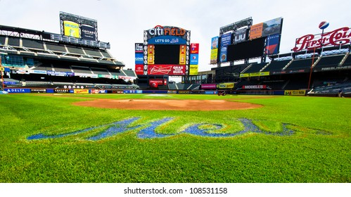 FLUSHING, NY - MAY 11:  Field view of Citi Field Ballpark in Flushing, NYC seen on May 11, 2012.  This stadium is home to Major League Baseball team NY Mets and was opened in 2009.