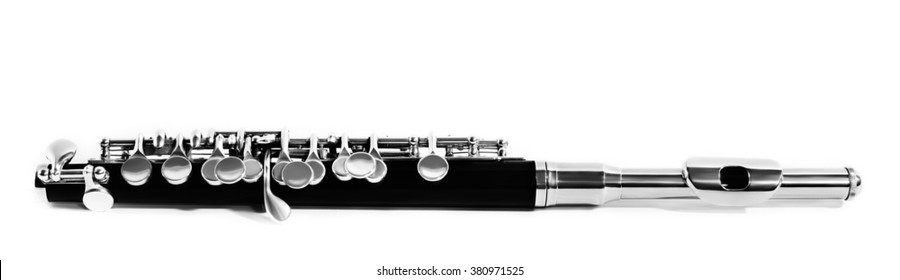 Flute piccolo Music Flute Instrument isolated on white background Orchestra instruments