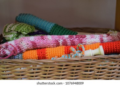 Flutes in hand knitted wraps in Waldorf School