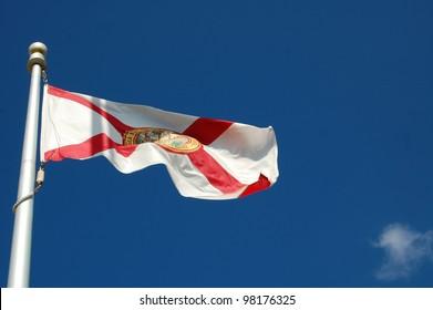 Fluttering Florida State Flag