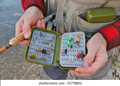 Fly Fisherman with Lure Box