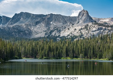 Fly Fishermen on Lake Mamie, Inyo National Forest, near Mammoth, California.