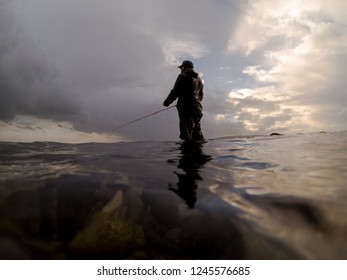 Fly Fishing For Cutthroat Trout On The Puget Sound