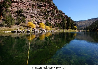 Fly fishing the Green River, Utah