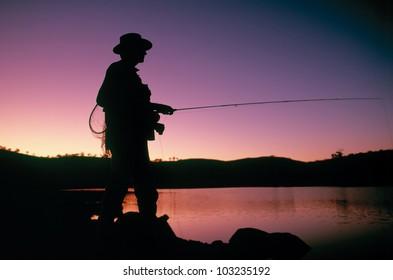 Fly fishing, Lake Jindabyne