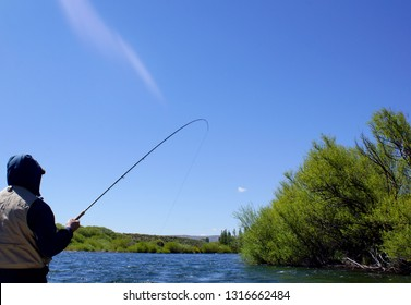Fly fishing on the Chimehuin River