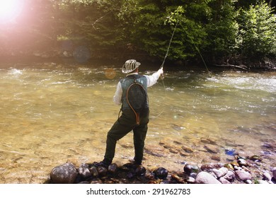 fly fishing on the creek