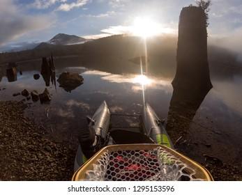 Fly Fishing On Rattlesnake Lake
