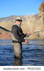 fly fishing the Salmon River in Idaho