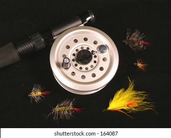 fly reel and flies
