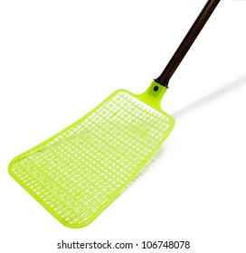 Fly swatter isolated on white.