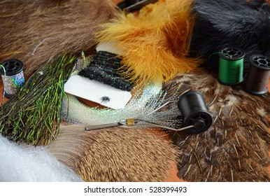 Fly tying materials and tools