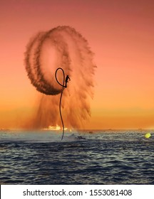 flyboard competition and acrobatics show
