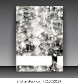 Flyer or cover design business. Editable illustration. For vector version, see my portfolio.