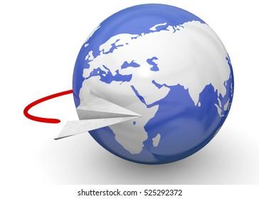 Flyig Around the World - 3D