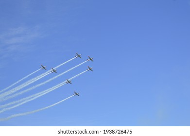 Flying 7 planes on airshow