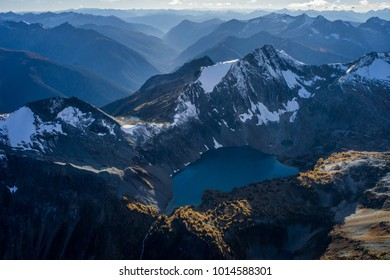 Flying above St. Mary's Provincial Park in the Kootenays of British Columbia, Canada.