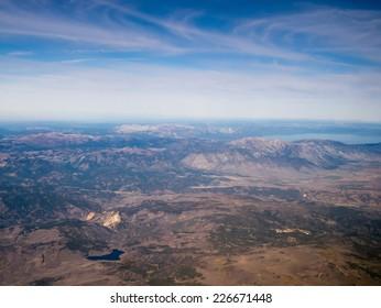 Flying around Carson City / Reno, Photos Taken in Lake Tahoe Area