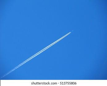 flying in blue sky