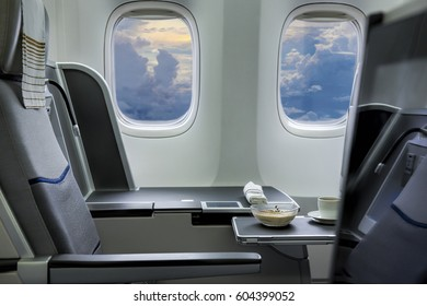 Flying by business class aircraft