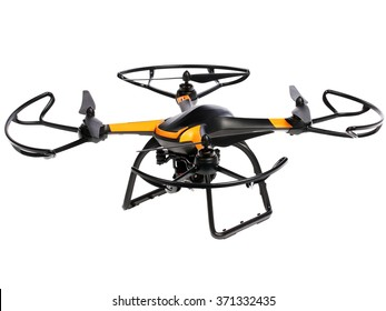 Flying drone. Quadrocopter