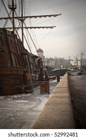 Flying Dutchman ship in Saint-Petersburg, Russia