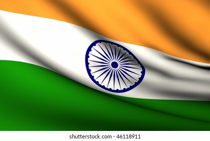Flying Flag of India   All Countries Collection  