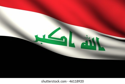 Flying Flag of Iraq | All Countries Collection |