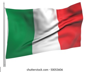 Flying Flag of Italy - All Countries Collection. To view full set - search ?38flagstaff?
