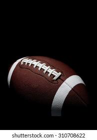 Flying Football on Black