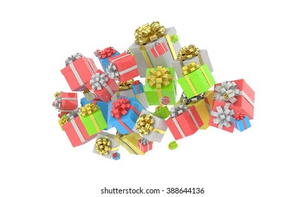 flying gift boxes