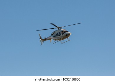flying helicopter in the sky