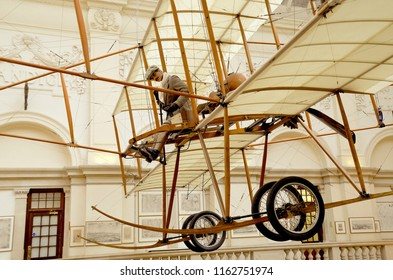 Flying machine exhibit at Bristol city museum and art gallery, a popular tourist attraction in the city centre. Bristol, Gloucestershire, England UK. august 2018