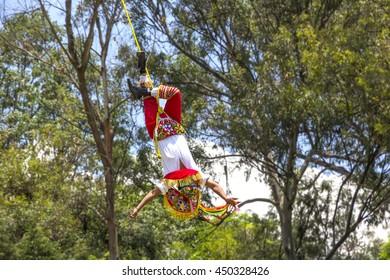 Flying man of Papantla, Mexico