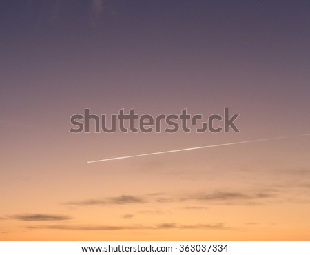 Flying Meteor On Morning Sky Background Stock Photo (Edit