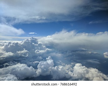 Flying over cloud build ups
