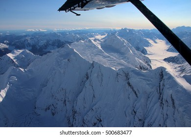 Flying over Denali, Mount McKinley, Alaska