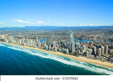 Flying over the Gold Coast, Australia