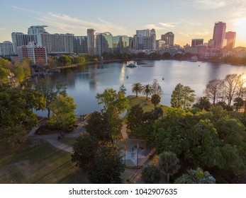 Flying over the Park in downtown Orlando, FL