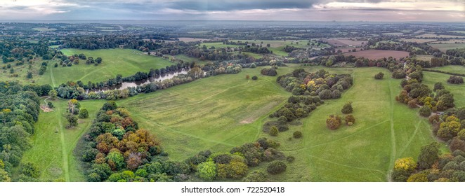 Flying over South Weald Park near Brentwood, Essex.