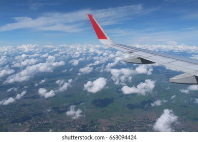 Flying over Thailand