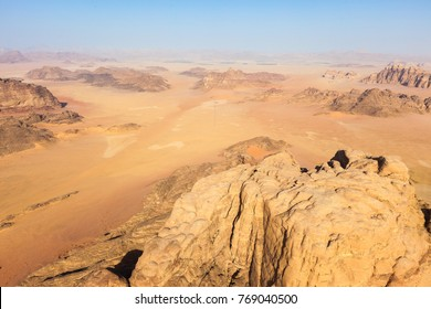 Flying over the Wadi Rum, Jordan