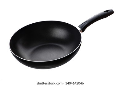 Flying pan isolated on white background