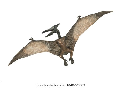flying pterodactyl prehistoric dangerous creature of Jurassic period