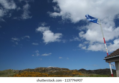 Flying the Saltire