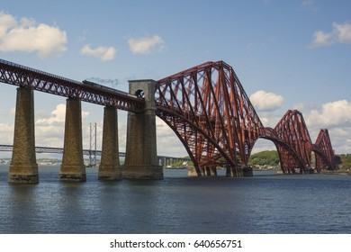 The Flying Scotsman crossing the Forth Rail Bridge
