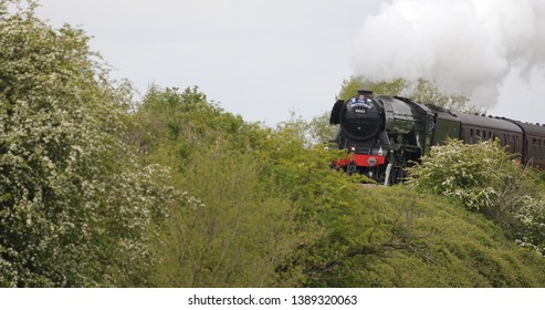 Flying scotsman going through Tamworth