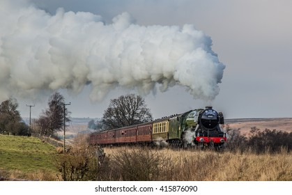 The Flying Scotsman leaving Goathland